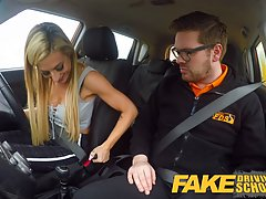 Busty blonde decided to fuck her driving teacher and pay for...