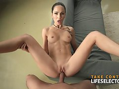 Slim brunette model, Lilu Moon is having sex therapy every o...
